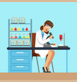 scientist woman working research in chemical lab vector image vector image