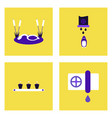 set of modern eco system icons in flet style vector image vector image