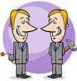 two false businessmen cartoon vector image vector image