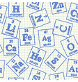 Chemical elements seamless pattern vector image vector image
