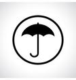 Umbrella in a circle vector image