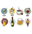 drink set vector image