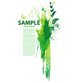 grunge nature background vector image vector image