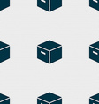 packaging cardboard box icon sign Seamless pattern vector image vector image
