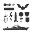 elements for army airforce and navy vector image vector image