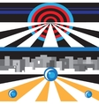 city abstract background vector image