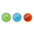 colored and creative classic clocks set vector image