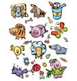 Cute animals for your design vector image