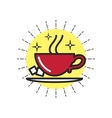Linear Icon Cup Of Coffee vector image