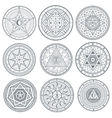 Occult mystic spiritual esoteric symbols vector image