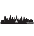 Hartford Connecticut skyline Detailed silhouette vector image