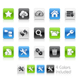 Hosting Icons Clean Series vector image vector image
