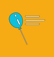 flat icon design collection balloon silhouette vector image vector image