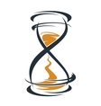 Sketch hourglass timer vector image
