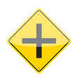 Intersection Ahead Sign vector image