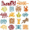 set - mexican symbols vector image