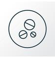 antibiotic icon line symbol premium quality vector image