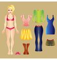 barbie white clothes set vector image