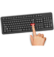 computer keyboard support vector image