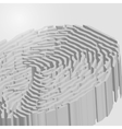 Fingerprint in 3D vector image