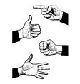 Hand symbol vector image