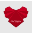 Happy valentines day Abstract red heart vector image