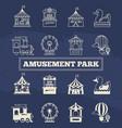 luna park thin line and silhoette icons set vector image