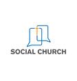 social church design template vector image