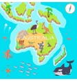 Australia Isometric Map with Flora and Fauna vector image