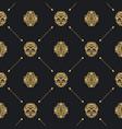 royal baroque seamless black pattern vector image