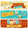 Happy Birthday horizontal banners vector image vector image