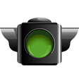 Green traffic light vector image vector image