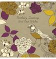 Bird blooming flowers vector image vector image