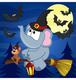 elephant and mouse halloween vector image vector image