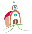 church drawing vector image