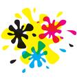 blur cmyk color vector image vector image