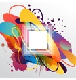 Colorful decorative background with free shapes vector image