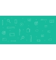Icons analytics background sketch doodle icons vector image