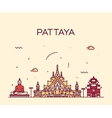 Pattaya Trendy linear style vector image