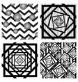 set of four seamless geometric backgrounds vector image