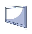 shadow tablet cartoon vector image