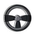 steering wheel icon image vector image
