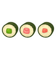 sushi with different stuffing vector image