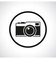 Vintage photo camera in a circle vector image