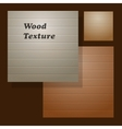 set of the wooden background vector image