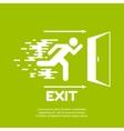 Emergency exit vector image