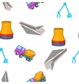 Construction industry pattern cartoon style vector image