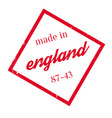 made in england rubber stamp vector image