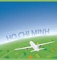 ho chi minh flight destination vector image