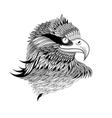 beautiful a graphical eagles head isolated vector image